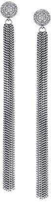 Sheryl Lowe Extra-Long Diamond & Fringe Earrings