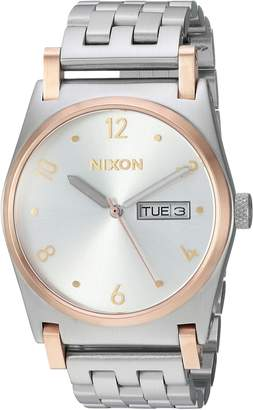 Nixon Women's 'Jane' Quartz Stainless Steel Casual Watch, Color:Silver-Toned (Model: A9542632-00)