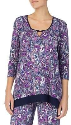 Ellen Tracy Paisley-Print Pajama Top