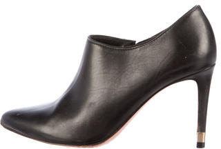 Tory BurchTory Burch Leather Semi-Pointed Toe Booties