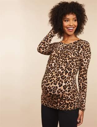 Motherhood Maternity Slim Fit Leopard Print Maternity Top
