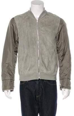 Prada Sport Nylon-Trimmed Shearling Jacket