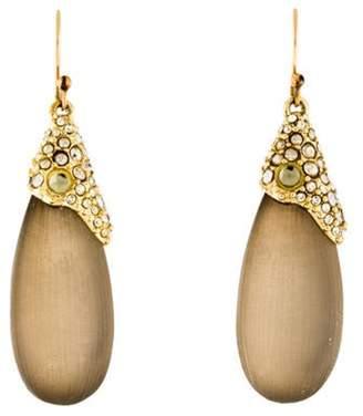 Alexis Bittar Crystal & Lucite Teardrop Earrings Gold Crystal & Lucite Teardrop Earrings
