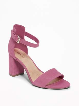 Old Navy Faux-Suede Block-Heel Sandals for Women