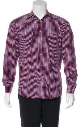 Luciano Barbera Woven Button-Up Shirt