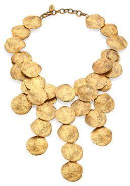Ralph Lauren Collection Goldtone Disc Necklace $1,600 thestylecure.com