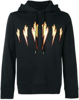 Neil Barrett Thunder Flame hoodie