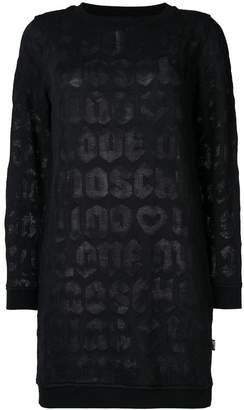 Love Moschino logo sweatshirt dress