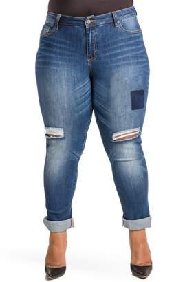Justice Poetic Shaw Curvy Fit Boyfriend Jeans