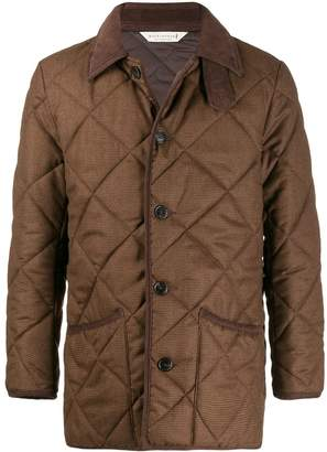 MACKINTOSH WAVERLY Brown Houndstooth Quilted Wool Jacket GQ-1001