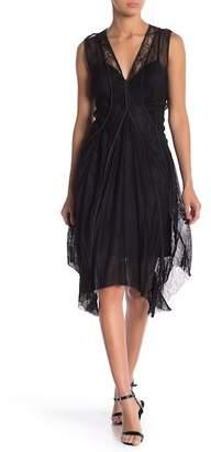 BCBGMAXAZRIA Asymmetrical Hem Lace Dress