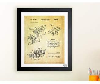 Lego Trent Austin Design 'Lego Toy Building Brick 1961' Graphic Art Print