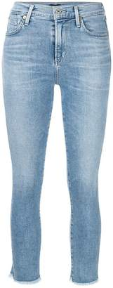 Citizens of Humanity frayed cropped skinny jeans