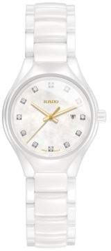 Rado True High-Tech Ceramic Diamond Studded Bracelet Watch