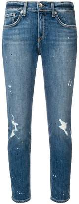 Rag & Bone distressed tapered jeans