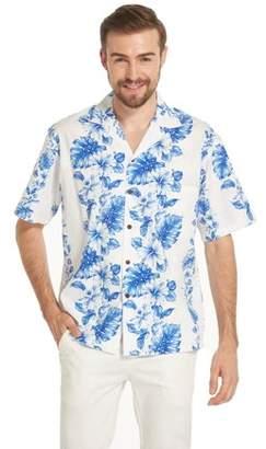 Hawaii Hangover Made in Hawaii Men's Hawaiian Shirt Aloha Shirt Line Hibiscus Floral Blue