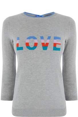 Oasis Rainbow Love Slogan Knit