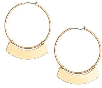Women's Madewell Crescent Hoop Earrings $26 thestylecure.com
