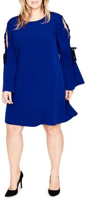 Rachel Roy Plus Cold Shoulder Tie Dress
