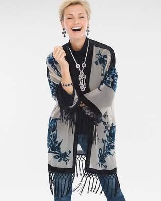 Chico's Travelers Collection Velvet Burnout Kimono