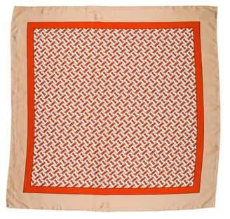 Burberry 2019 Monogram Print Silk Scarf
