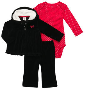 Carter's Newborn 3PC Cardigan Set with Bow