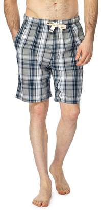 RJR.JOHN ROCHA RJR.John Rocha - Big And Tall Grey Checked Pyjama Shorts