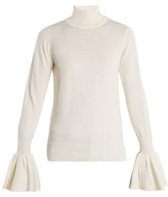 ADAM by Adam Lippes Fluted Cuff Wool Sweater - Womens - Ivory