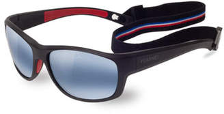 Vuarnet Cup Large Rectangular Active Polarized Sunglasses, Black/Blue