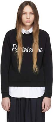 MAISON KITSUNÉ Black Parisienne Sweatshirt