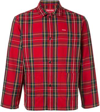 Supreme tartan flannel shirt
