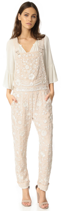 Needle & Thread Embroidery Motif Dungarees $649 thestylecure.com