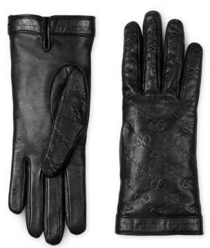 Gucci Signature leather glove