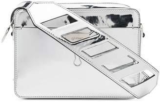 Off-White silver Mirror camera belt bag