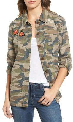 Women's Treasure & Bond Camo Surplus Shirt Jacket $79 thestylecure.com
