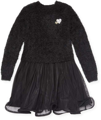 Billieblush Fleece Mesh Dress