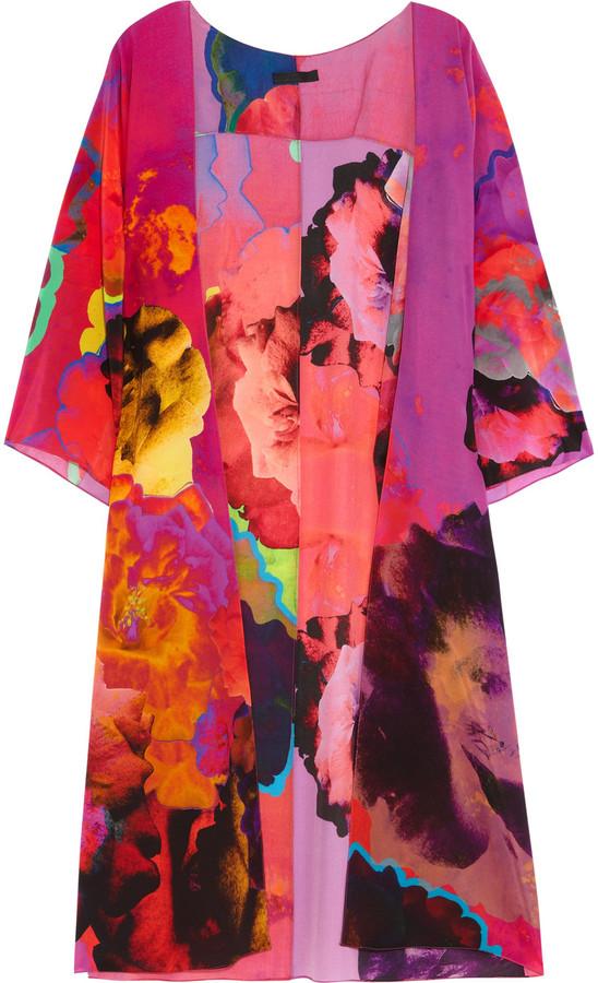 Athena Procopiou Inez printed silk kimono