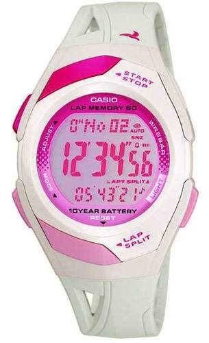 Casio Women's Watch, Face On White Resin Band