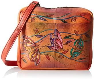 Anuschka Handpainted Leather Crossbody Travel Organzer