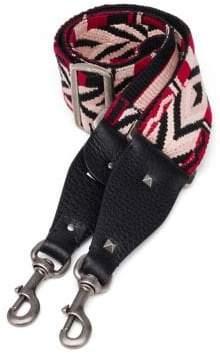 Valentino Multicolor Cotton& Leather Guitar Handbag Strap