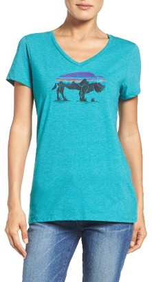 Women's Patgonia Fitz Roy Bison Tee $29 thestylecure.com