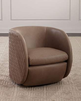 Bernhardt Lillian Leather Swivel Chair