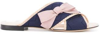 Fendi bow crossover sandals