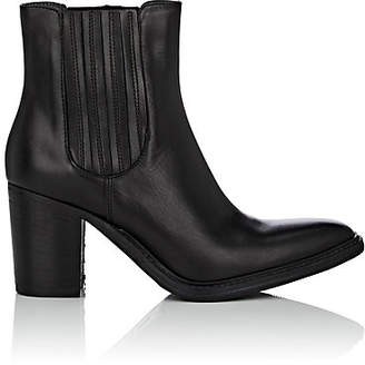 Barneys New York WOMEN'S LEATHER CHELSEA BOOTS - BLACK SIZE 5