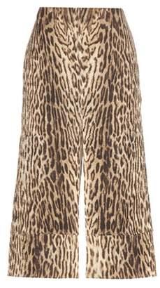 Chloé Printed cotton-blend jacquard skirt