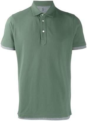 527eed7b Brunello Cucinelli layered-effect polo shirt