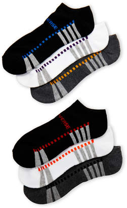 Converse 6-Pack Color Dash No-Show Socks
