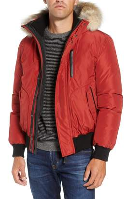 Mackage 'Florian' Down Bomber Jacket with Genuine Coyote Fur Trim