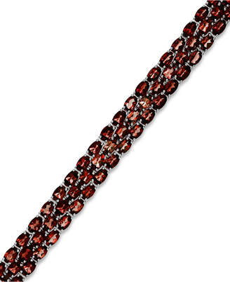 Macy's Garnet Three-Row Bracelet in Sterling Silver (25 ct. t.w.)