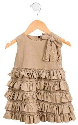 Blumarine Girls' Ruffle-Accented Corduroy Dress